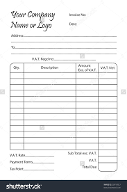 invoice book illustration bill pad template stock illustration invoice book illustration of a bill pad template