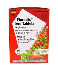 Flora <b>Floradix Iron Tablets Supplement</b> 120 Tablets