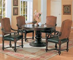 Round Dining Room Table And Chairs Cool Round Dining Room Table Set On Old Style Cream Dining Set