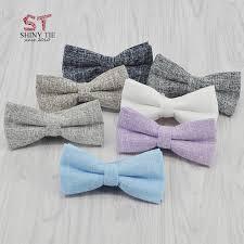 <b>New Style</b> 10 Colors <b>Handmade</b> Solid Cotton Bowtie <b>Fashion</b> ...