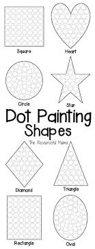 best ideas about fine motor skills motor skills shapes dot painting printable