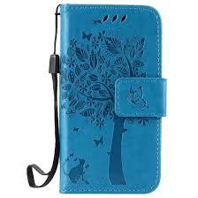 Shop Blue Tree Design <b>PU Leather Flip Cover</b> Wallet Card Holder ...