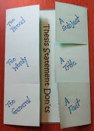 foldable   jpg Thesis statement practice middle school