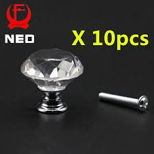 <b>10pcs</b>/lot <b>NED</b> 20-40mm Diamond Shape Design Crystal Glass ...