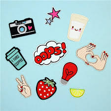 1Pc <b>Camera Star</b> Bulb Strawberry <b>Oops</b> Cup Embroidery <b>Patches</b> for ...