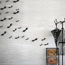 12Pcs PVC <b>3D</b> Bat Wall Stickers <b>DIY Party Halloween</b> Decoration ...