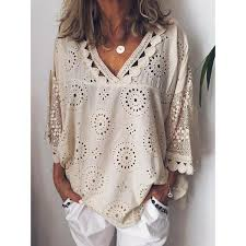 <b>Plus Size Summer</b> Women Cutout Blouse <b>T</b> Shirt Tunic Top – chililook