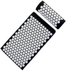 Black <b>Acupuncture</b> Mat and Pillow Set for Back <b>Acupuncture</b> ...