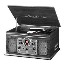 Victrola 6-in-<b>1 Nostalgic</b> Bluetooth Record Player with 3-speed ...