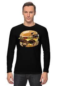 """оформить заказ на лонгсливы с красивыми принтами """"<b>бургер</b>"""""""
