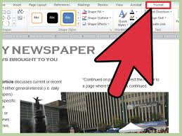 ms word tutorial part greeting card template inserting and how 3 ways to make a newspaper on microsoft word wikihow how template 2013 step 15 vers