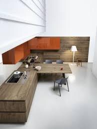 kitchen island integrated handles arthena varenna: oak fitted kitchen without handles design by gian vittorio