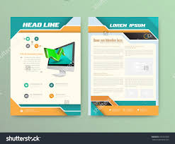 abstract vector brochure template flyer layout stock vector abstract vector brochure template flyer layout flat style infographic elements