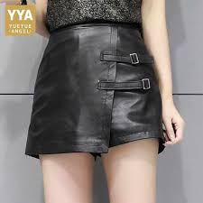 Fashion Women Asymmetric Shorts <b>Skirts</b> Top Quality <b>Sheepskin</b> ...