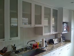 kitchen cabinets glass doors design style: charming interior room with lush kitchen cabinet door ideas from glass material using wooden frames