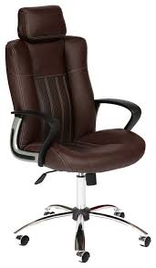 <b>Кресло</b> руководителя <b>TetChair OXFORD Хром</b>, Коричневый ...