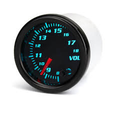 <b>12v universal 2 inch</b> 52mm auto voltmeter 7 color led display tinted ...