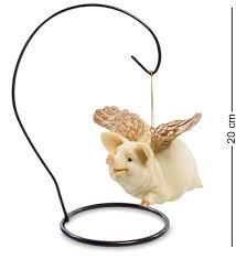 """Фигура <b>Sealmark</b> """"<b>Летающая свинья</b> ''Златокрылая'', 90335 ..."""