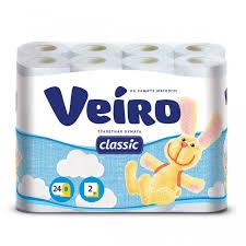 <b>Veiro Бумага</b> туалетная 2-х слойная Classic 24 шт. - Акушерство.Ru