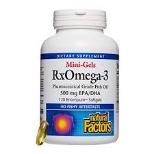 Buy <b>Natural Factors Rx Omega-3</b> Factors Mini-Gels, 120 Softgels ...