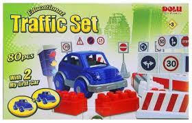 <b>Конструктор Dolu</b> Большие цветные блоки <b>5038</b> Дорожный трафик