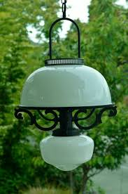 <b>Vintage</b> Milk <b>Glass</b> Chandelier- Early <b>American Style</b>, Black and ...