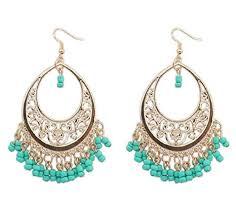Vintage <b>Hollow Out</b> Beads Chandelier Tassel Bohemian Style Drop ...