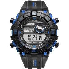 Fashion Waterproof <b>Watches Men Big</b> Dial Digital <b>Sport Watch</b> ...