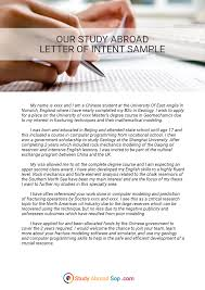 study abroad letter of intent example on behance study abroad letter of intent example
