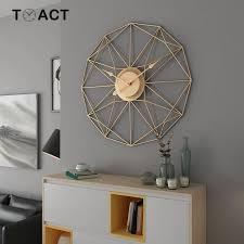 Nordic Art <b>Wall</b> Clock Living Room Decoration <b>Wall</b> Clocks Modern ...