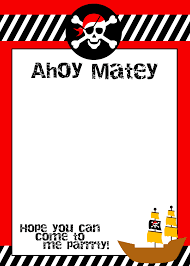 pirate themed birthday party printables birthday pirate birthday invitation template · party invitation templatesprintable invitation