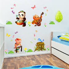 animals concert panada pig bee bird vinyl wall decal home sticker paper art picture diy murals baby nursery cool bee animal