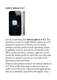 unlock iphone 4 4 2 power full unlock i phone solution