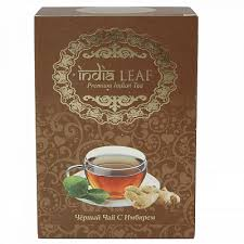"""<b>Чай India leaf</b> """"<b>Черный чай</b> с имбирем"""", среднелистовой, 100 гр ..."""