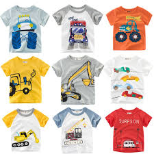 Loozykit 2 10Y Cartoon Print <b>Boys</b> Transportation <b>T Shirt Summer</b> ...