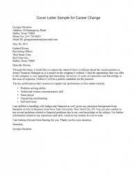 career change cover letter sample cover letter sample  career change resume the