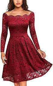 MISSMAY Women's Vintage Floral Lace Long Sleeve ... - Amazon.com