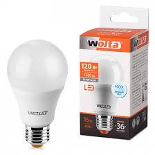 Лампа WOLTA LED А60 15Вт Е27 4000К