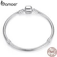 BAMOER TOP SALE Authentic <b>100</b>% <b>925 Sterling</b> Silver Snake ...