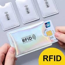 Silver Laser Aluminium <b>Anti Rfid Wallet</b> Blocking Reader Lock <b>Bank</b> ...