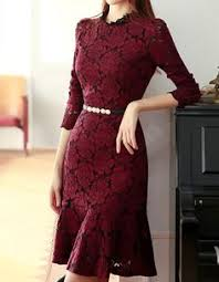 Wine Red A-Line <b>Lace Qipao</b> / <b>Cheongsam</b> Wedding Dress | Style in ...