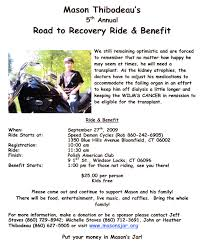 benefit flyer 2009 road to recovery flyer information below