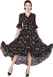 XINUO Womens Summer Dresses <b>Boho Deep V Neck</b> Floral Casual ...