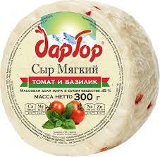 <b>Дар Гор Сыр мягкий</b> с Томатом и Базиликом 45%, 300 г — купить ...