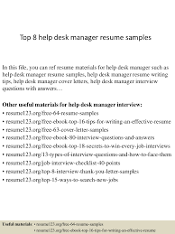 top8helpdeskmanagerresumesamples 150410090021 conversion gate01 thumbnail 4 jpg cb 1428674478