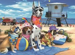 """<b>Пазл Ravensburger</b> """"<b>Собаки на</b> пляже"""" XXL 100 шт коробка арт ..."""