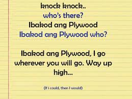 knock knock tagalog | Tumblr via Relatably.com