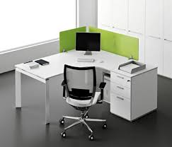 desk stylish modern ofice corner desk wood construction l shape gloss white finish metal legs alluring gray office desk