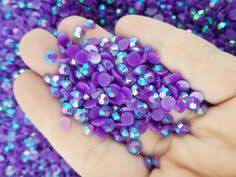 5mm AB Jelly Resin Rhinestones, Purple Flat Backed, Pick Your ...