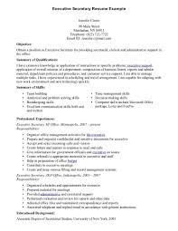 executive secretary resumes template executive secretary resumes